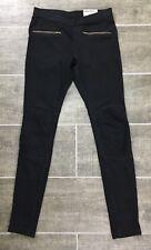 Hue Leggings XS Moto Original Denim Leggings Stretch Black J1884