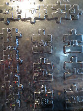 AUTISM LETTERS MOLD Chocolate Candy Soap oreo cookies puzzle piece awareness ck