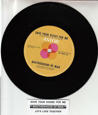 BROTHERHOOD OF MAN  Save Your Kisses For Me 45 record NEW + jukebox title strip