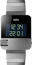 Braun Men's Prestige Digital Watch  Silver Dial & Stainless Bracelet BN0106SLBTG