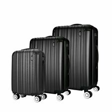 "Set of 3 Piece 20 24 28"" Travel Luggage 4 Wheel Trolley Suitcase Bag Hard Shell"