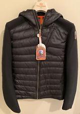 NWTs Parajumpers Men's Nolan Hooded Jacket. Small/Medium. Black (retail $345)