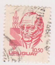 (UGA-96) 1980 Uruguay 50c red ARTIGAS (GX)