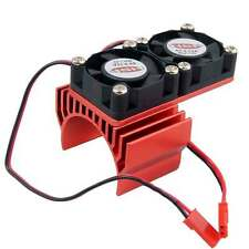 Double Cooling Fan DC 5V Red For RC Redcat Racing 1:10 Motor Heat Sink 540 550