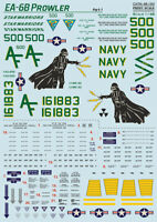 Print Scale 48-193 WET Decal for EA-6B Prowler Part 1 1:48