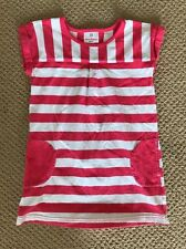 HANNA ANDERSSON Play Shift Tunic Dress Pink Flower Stripes 110 5