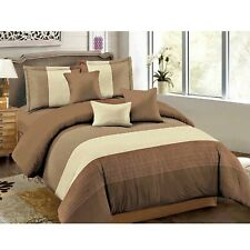 Dcp 5-Piece Microfiber Comforter Set Bed in a Bag,lightweight,Seam Brown,Twin
