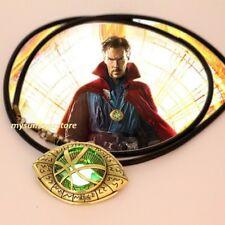Dr Doctor STRANGE Eye of Agamotto Amulet Men GLOW In THE DARK Pendant Necklace