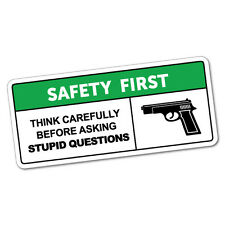 Safety First Stupid Questions Sticker Funny Car Stickers Novelty Decals #5435K