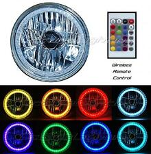 """7"""" RGB Multi-Color White Red Blue Green LED Halo Headlight For Harley Motorcycle"""
