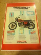 Vintage Honda Cb750 Motorcycle Poster Advertisement Man Cave Gift