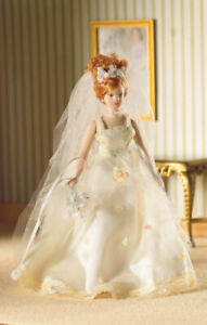 Naomi In Wedding Dress, Dolls House Miniature, 1:12 Scale