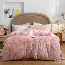 2020 Long mink fur bedding set cashmere polar fleece duvet cover thickening warm