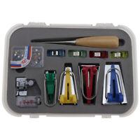 Replacement Binding Quilting Sewing Snap on Foot Bias Tape Maker Awl Pin Set