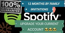 ☆SPOTIFY PREMIUM ☆12 MONTHS ☆ACTIVE YOUR CURRENT ACCOUNT WHY FAMILY INVITATIONS☆