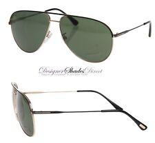 Tom Ford Sunglasses ERIN Black Gold Aviator Pilot TF466F 05N Men Women