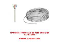 MATASSA 100 MT METRI CAVO DI RETE SFTP CAT 5E LAN ETHERNET 5E INTERNET SCHERMATO