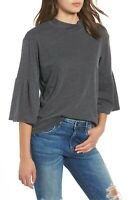 Billabong Today's Crush Bell Sleeve Top Twirly Bell Sleeves Mock Neck Tee NWT