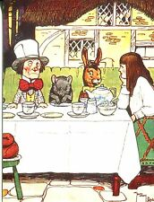 POSTCARD OF THE MAD HATTER'S TEA PARTY FROM ALICE IN WONDERLAND