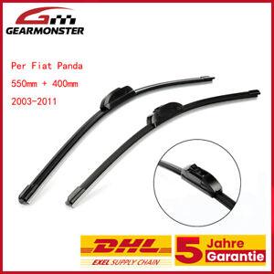 Per Fiat Panda 169 Spazzole Tergicristallo Anteriori Kit 2003-2011 400+550mm IT