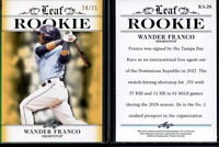 2018 Leaf ROOKIE Wander Franco card RA-28 SP #24/25 RC Rays