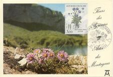 Carte 1er Jour TOULOUSE 23/04/1983 aster des montagnes fleurs des pyrénées timb.