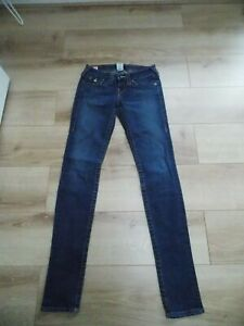 LADIES TRUE RELIGION JULIE SKINNY LEG JEANS WAIST 26 SIZE 8 LEG 34