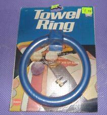Vtg NOS Borden Chemical LUSTRO WARE Plastic Towel Ring Bar BLUE (A)