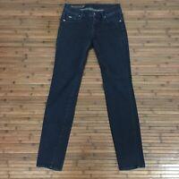 Armani Exchange Womens Dark Wash Low Rise Skinny Jeans Size 26s