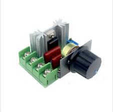 2000W 220V AC SCR Voltage Regulator Dimmer Electric Motor Speed Controller US