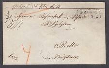 Germany, Stampless envelope, WOLGAST-BERLIN, 5 black wax seals