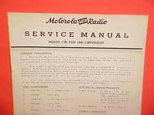 1946 1947 CHEVROLET FLEETLINE FLEETMASTER MOTOROLA AM RADIO SERVICE SHOP MANUAL
