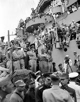 WWII Photo Japanese Surrender USS Missouri WW2 US Navy World War Two Japan BB-63