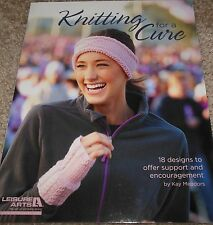 Leisure Arts KNITTING FOR A CURE pattern book knit patterns  ON SALE