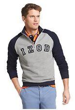 NWT Izod Big & Tall  1/4 Zip Pull Over Fleece Sweatshirt Navy/Gray 4XL $68.msrp