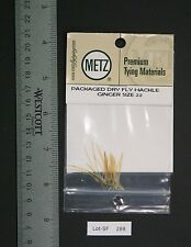 Metz/Umpqua Ginger Size 22 Genetic Dry Fly Rooster Hackle Pack New