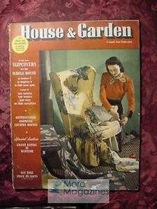 RARE House and & Garden May 1943 Grand Rapids Slipcoves Country Houses
