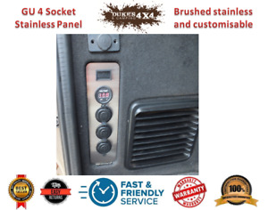GU Patrol Rear Panel Replacement 1 x Voltmeter 3 x 12VDC Socket Stainless Steel