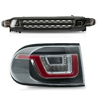 CLEAR taillights+DUAL BEAM Headlights+BLACK Grille for 2007-2014 FJ Cruiser