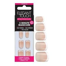 Elegant Touch Express Uñas francés Bare 3 Minute Manicure Nuevo