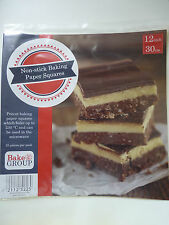 """Pre-Cut Baking Paper 12"""" Squares - pack of 25 - BRAND NEW!"""