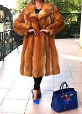 Golden Red   Fox Fur Jacket/Coat & fur hat