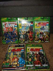 .99 cent auction Gi Joe 2004 2005 Comic 3 Pack Figures Snake Eyes lot Duke cobra