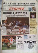 L'Equipe Journal 11/5/1988; Cantona à Marseille, le plus gros contrat du foot Fr