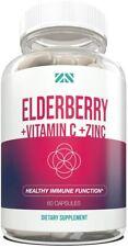 Elderberry+Vitamin C+Zinc - Supports Healthy Immune Function - Echinacea 60ct