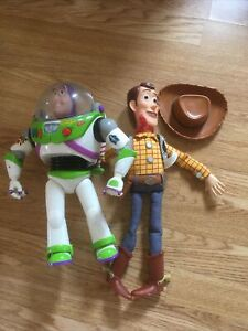 Toy Story Interactive Buzz Lightyear Woody Pull String Talking Toys