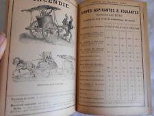 Vintage catalogue Fire pumps water pumps mine pumps 1890s fire service france