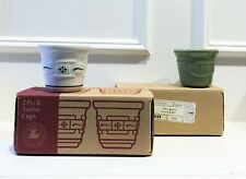 NEW LONGABERGER WOVEN TRADITIONS SET OF 2 VOTIVES CHOOSE: SAGE or HERITAGE GREEN