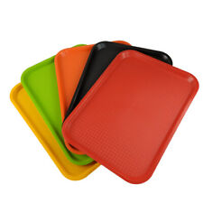 5x Fast Food Tray 41x30cm Plastic Kitchen Serving Tray Restaurant Catering Lap