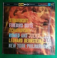 Leonard Bernstein Stravinsky Firebird Suite Tchaikovsky Romeo And Juliet LP